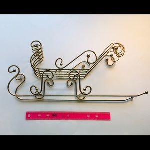 Christmas Sleigh Sled Basket Decoration